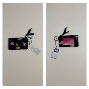 "NWT Vera Bradley ""Flamingo Fiesta"" Zip ID Case"
